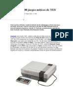 Los 100 Juegos Míticos de NES