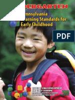 early learning standards - kindergarten 2010