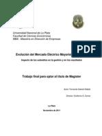 Stabile. Evolución Del Mercado Eléctrico Mayorista Argentino