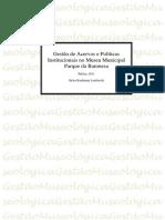Gestão de Acervos e Políticas Institucionais no Museu Municipal Parque da Baronesa