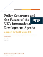 Policy Coherence and the Future of the UK's International Development Agenda