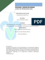 Planeación didáctica de la materia Formación cívica y ética
