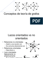 Conceptos de Teoría de Grafos