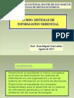 Clase Inaugural SIG.2015-II