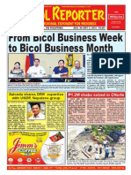 Bikol Reporter August 30 - September 5, 2015 Issue