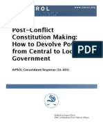 Post-Conflict Constitution Making
