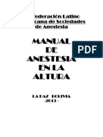 Manual de Anestesia en La Altura - Bolivia 2013