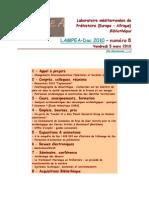 LAMPEA-Doc 2010 - numéro 8 / Vendredi 5 mars 2010
