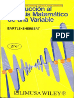 Bartle-Introduccion Al Analisis Matematematico de Una Variable