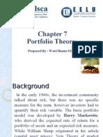 Chapter 7 Portfolio Theory