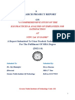 A COMPREHENSIVE STUDY OF THE H.R PRACTICES & ANALYSIS OF EMPLOYEES JOB SATISFACTION AT NTPC Ltd  IN DADRI.docx