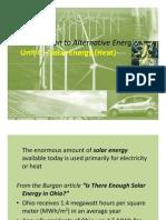 Unit 4 Solar Energy Heat