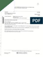 M/J/07 History O Level Paper I
