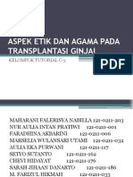 Aspek Etik Dan Agama Pada Transplantasi Ginjal