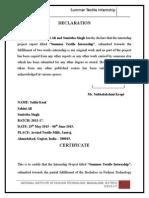 Arvind textiles internship report