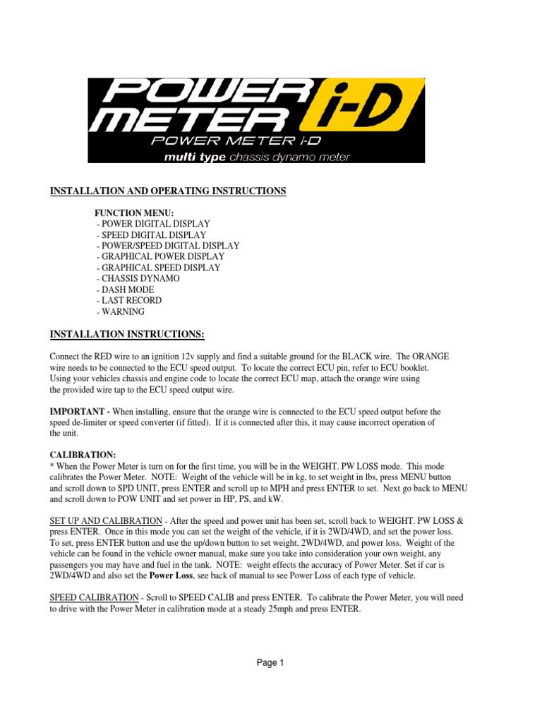 Blitz Powe Meter I D Manual Four Wheel Drive Calibration Avcr Wiring Diagram