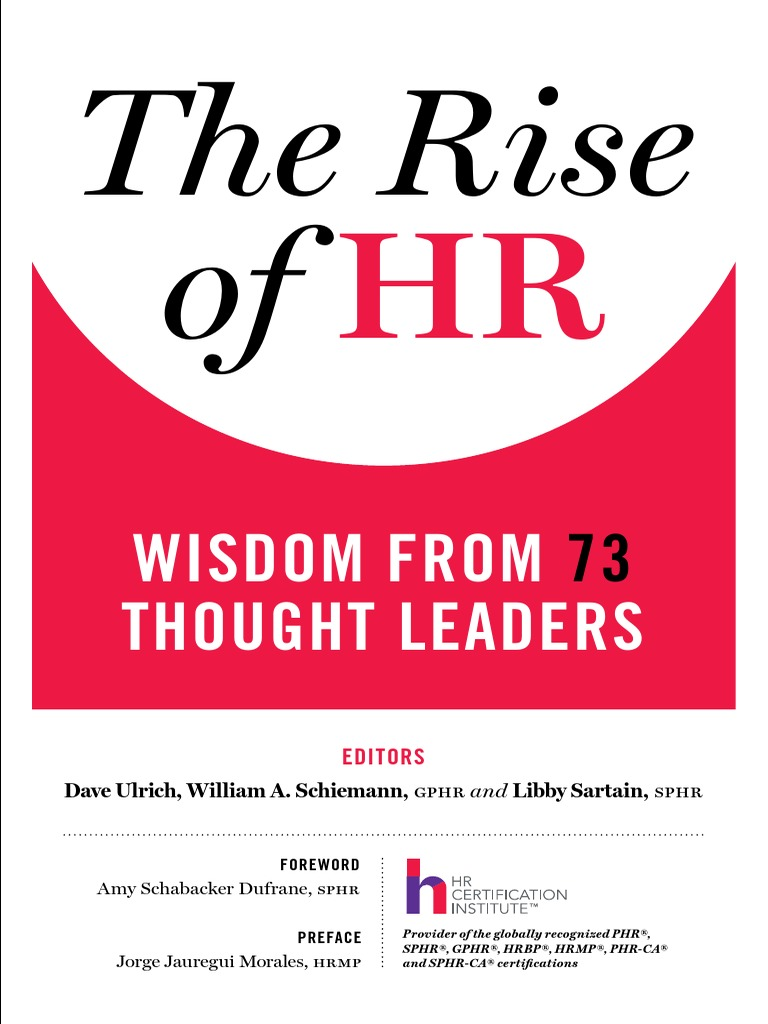 The rise of hr wisdom from 73 thought leaders 2015 human the rise of hr wisdom from 73 thought leaders 2015 human resource management strategic management xflitez Choice Image