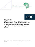 Guide to Elemental Cost Estimating 2013