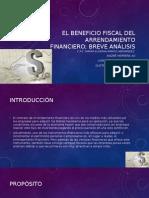 Artículo Gumaro Número 2 El Beneficio Fiscal Del Arrendamiento Financiero