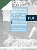 U.S. Civil War Campaign In New Mexico Territory 1862 EL PALACIO MAGAZINE Vol. 96, No. 2 Spring 1991