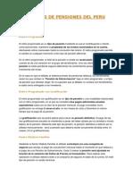 Tipos de Pensiones y Seguros de vida en Perú