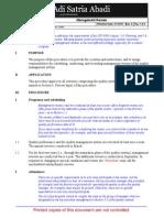 ISO 9001 Operational Procedure QOP-56-01 Management Review PT ASA