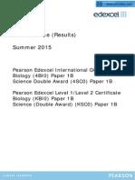 BIOLOGY EDEXCEL IGCSE MAY JUNE 2015