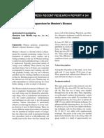 Acupuncture for Meniere's Disease