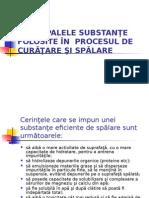 Principalele Substante Folosite in Procesul de Curatare Si Spalare