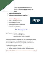 Polymerisation techniques