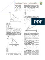 Lista 2º ano de Física para SSA-UPE Gases e Termodinamica