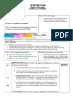 Week 9 and Week 10 Lesson Plan