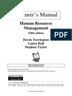 Human Resource Management by Derek Torrington, Laura Hall & Steven Taylor 5E (Lecturer's Manual)