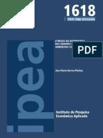 Barros-Platiou O Brasil Na Governança Das Grandes Questões Ambientais