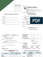 Form 138-Report Card Gr. v - Vi