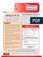 HDFC Systematic Saving Plan Form