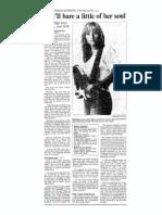 1992 Interview with Melissa Etheridge