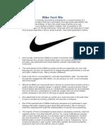 Nike Fact File