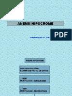 Curs 4. Anemii Hipocrome