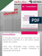 05 - Formulários