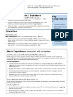 Cv Template Entry Level Sales