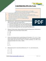 Soal Utn Mateematika Ppg Sm3t 2013