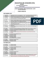 Cronograma Por Quimestres 2015 - 2016