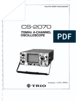 Trio Kenwood Cs-2070 70mhz Oscilloscope
