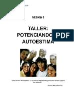 Guía Del Taller SESIÓN 5 Taller de Autoestima