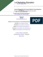 Incorporating Transformative Consumer Research Into the Consumer Behavior Course Experience