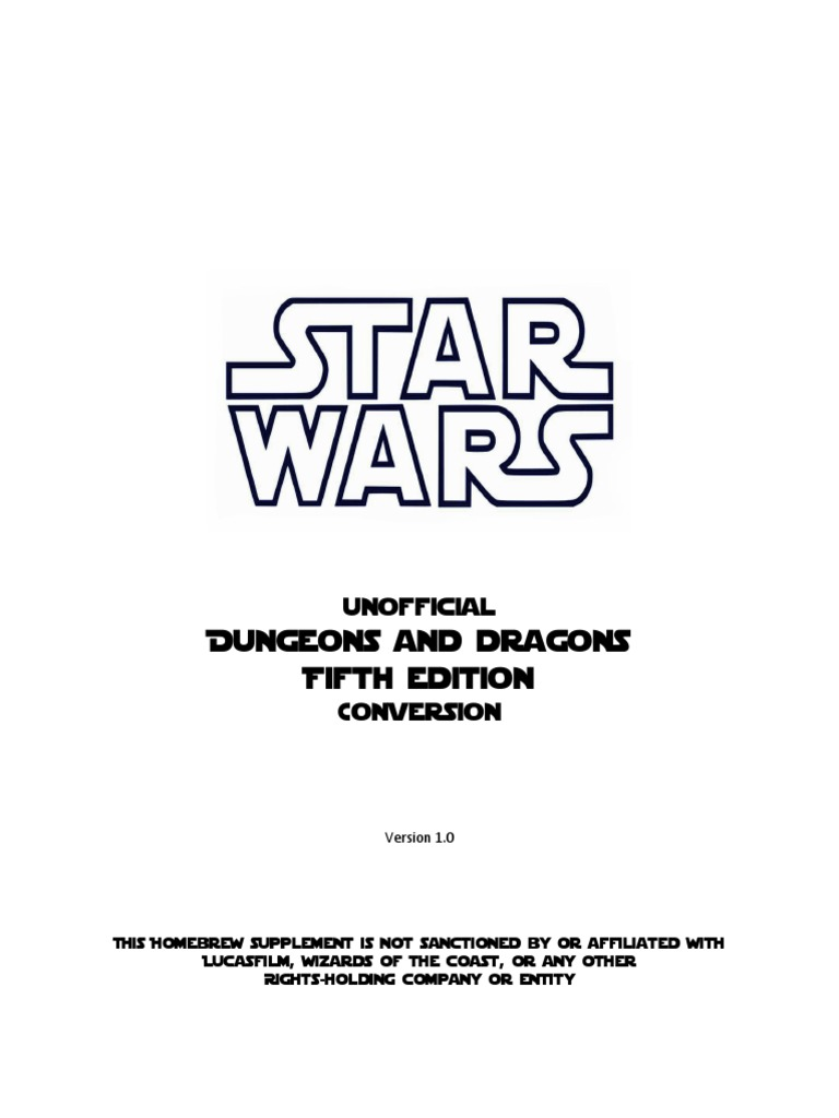 Star Wars - D&D 5th Edition Conversion (PF) | The Force