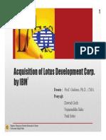 Acquisition of Lotus Development Corp