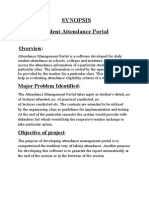 Synopsis of Attendance management Portal Vj