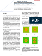 Design of Hexagonal Fractal Multiband Antenna with Parametric Analysis